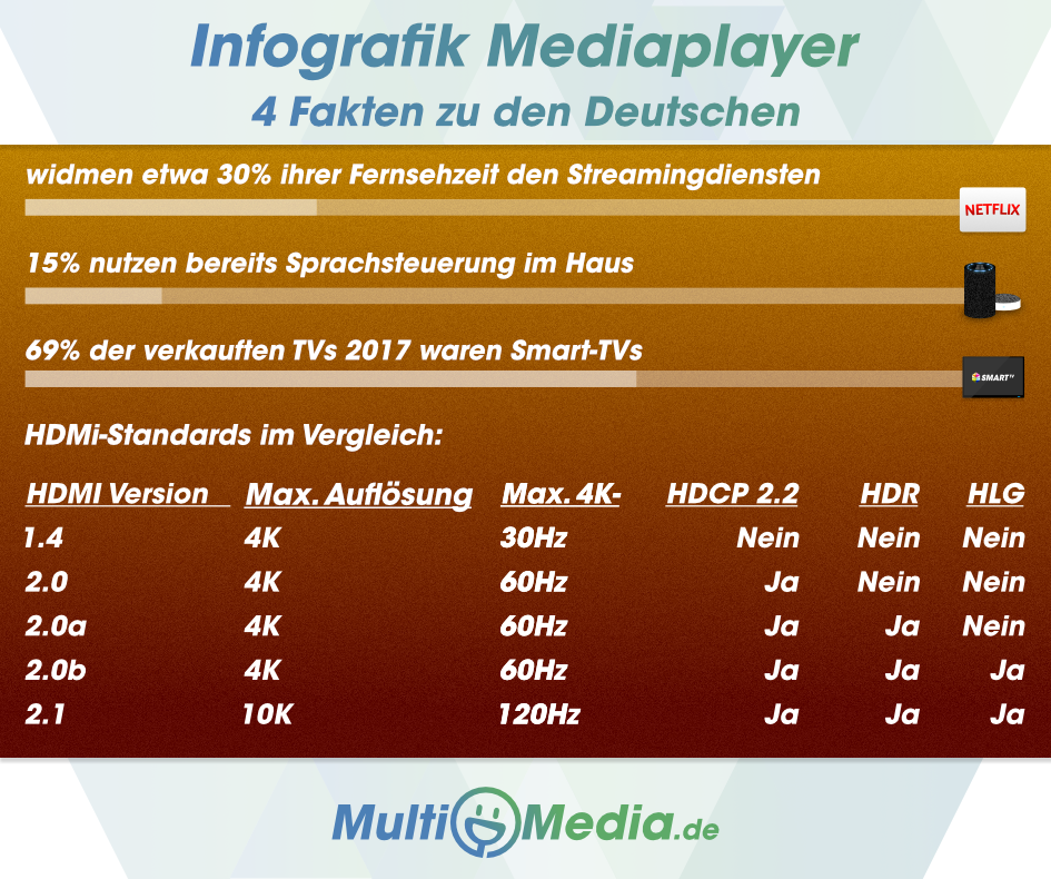 Infografik Mediaplayer Multimedia