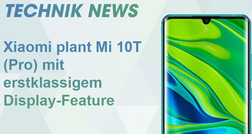 xiaomi mi 10t display feature